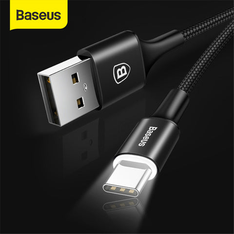 Baseus USB Type C Cable with light