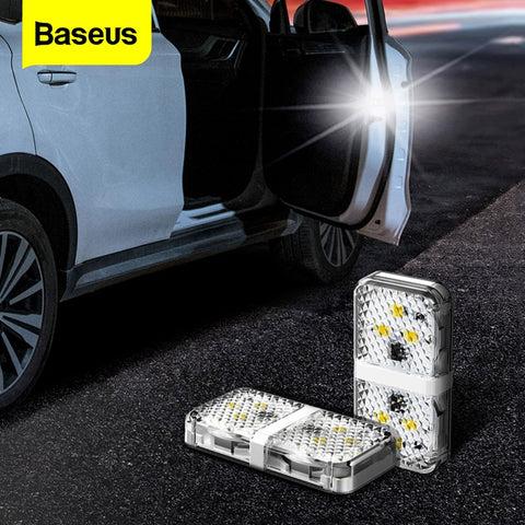 Baseus 2pcs 6 LEDs Car Openning Door Warning Light