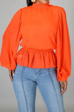 Load image into Gallery viewer, Orange Chiffon top