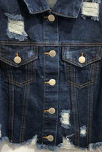 Load image into Gallery viewer, Puff Sleeve Denim Jacket