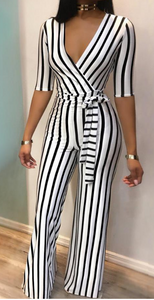 Striped Wideleg jumpsuit