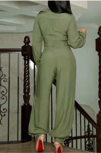 Balloon leg jumpsuit