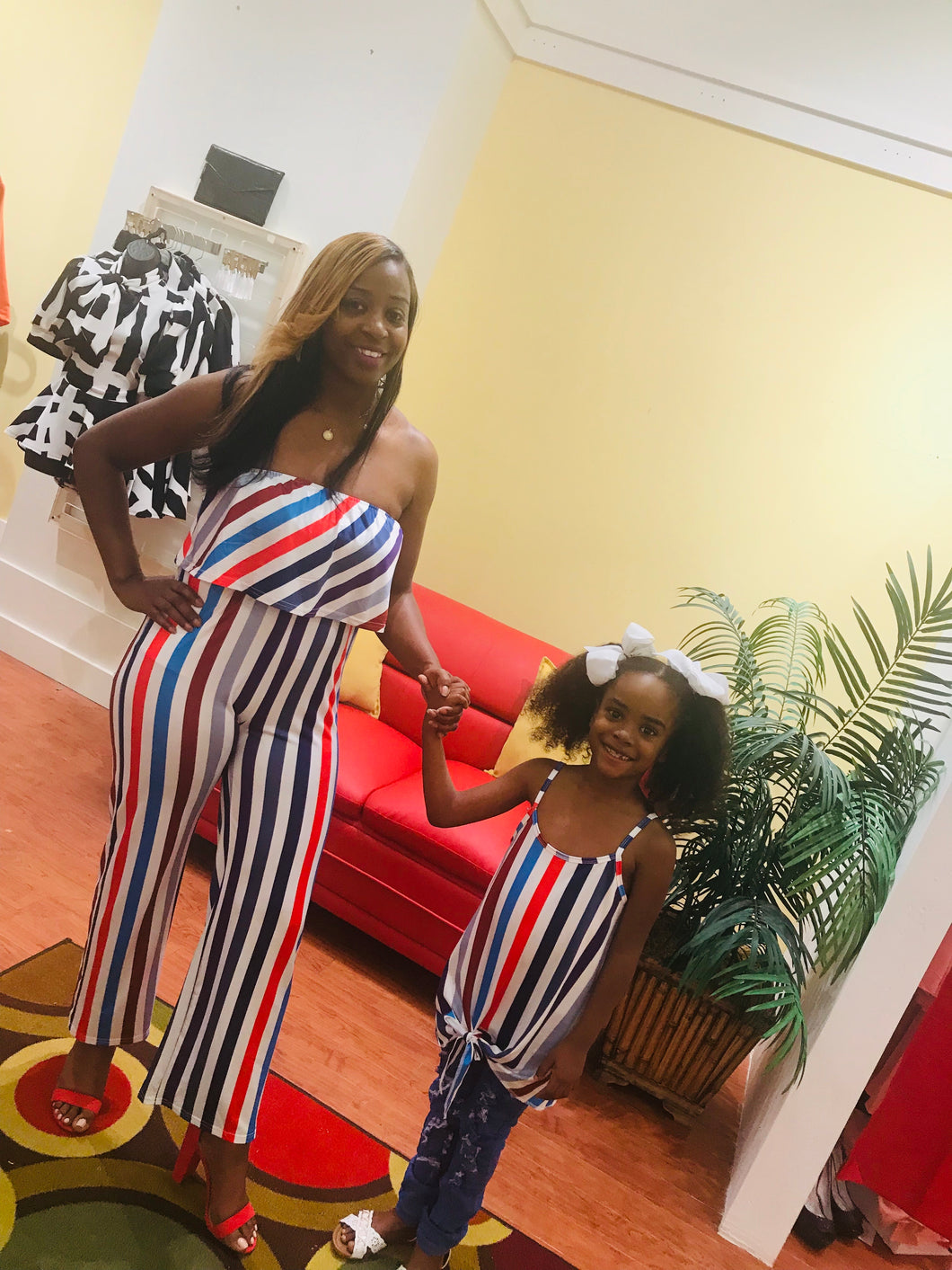 Mommy and Me stripe duo