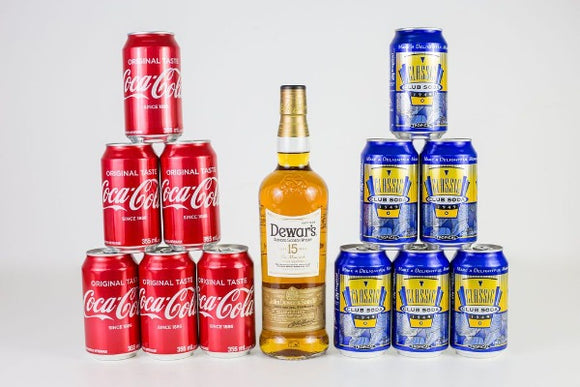 Dewar's 15, Coke and Soda Package