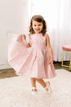Estela Pink Puffy Party Dress