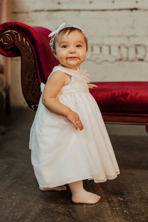 Paula White Polka Dot Tulle Baptism Dress