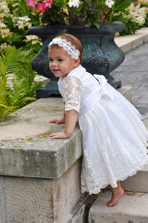 Aria Ivory Tulle Baptismal Dress
