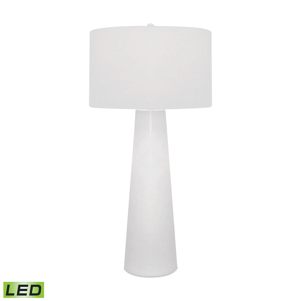 Lamp Works White Obelisk Table Lamp With Night Light