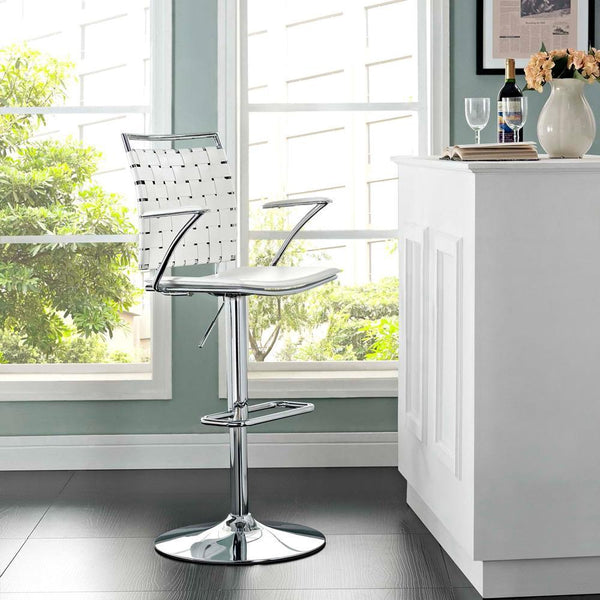 Modway Fuse Adjustable Bar Stool - White
