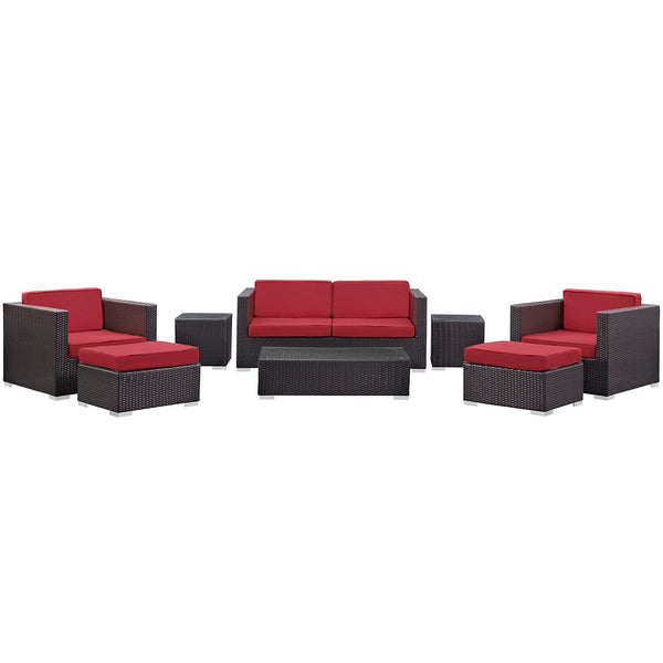 Modway Venice 8 Piece Outdoor Patio Sofa Set