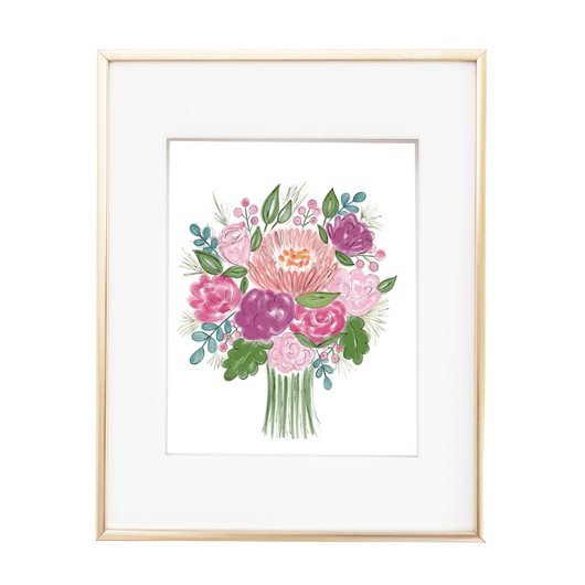 A BUNCH OF BLOOMS PRINT