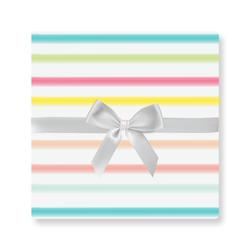 BLURRED RAINBOW STRIPE WRAP