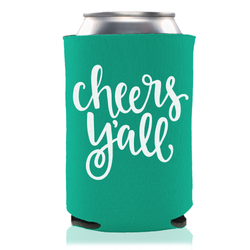 CHEERS Y'ALL KOOZIE - EMERALD