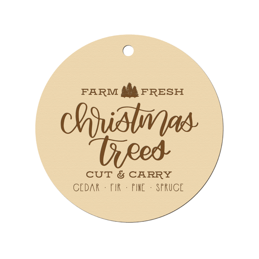 CHRISTMAS TREE FARM ENGRAVED ORNAMENT