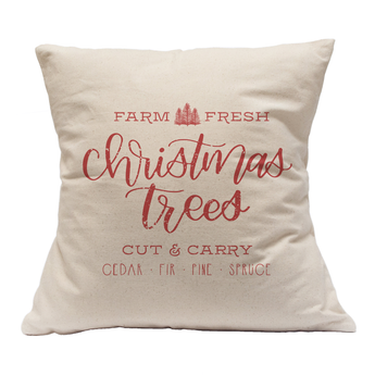 CHRISTMAS TREE FARM FARMHOUSE PILLOW CASE