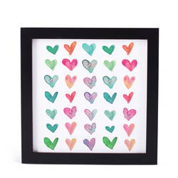 FRAMED WATERCOLOR HEARTS