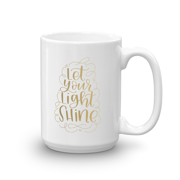 LET YOUR LIGHT SHINE GOLD FOIL MUG