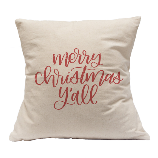 MERRY CHRISTMAS Y'ALL FARMHOUSE PILLOW CASE