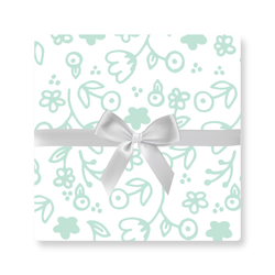 MINT ILLUSTRATED FLORAL WRAP