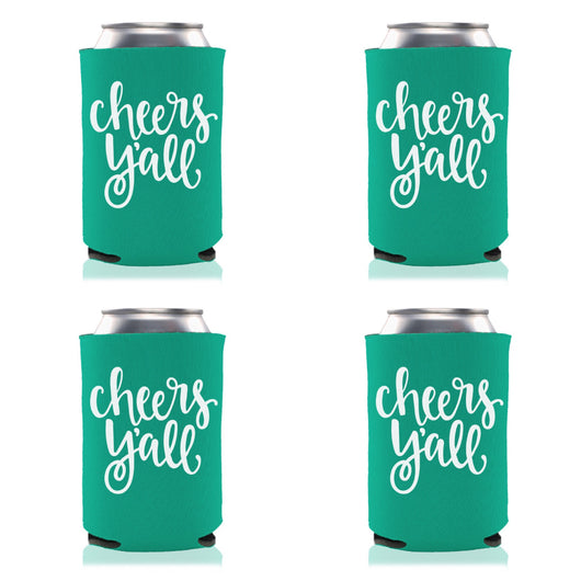 EMERALD CHEERS Y'ALL KOOZIE PARTY PACK