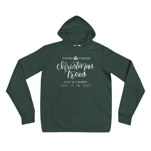 CHRISTMAS TREE FARM UNISEX HOODIE SWEATSHIRT