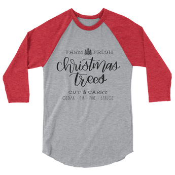 CHRISTMAS TREE FARM RAGLAN SHIRT