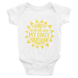 YOU ARE MY SUNSHINE ONSIE (NB-24MO)