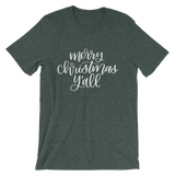 MERRY CHRISTMAS Y'ALL UNISEX T-SHIRT