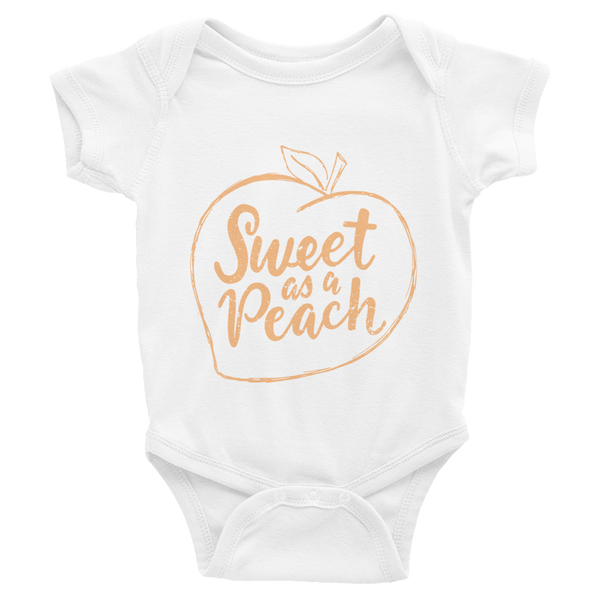 SWEET AS A PEACH ONESIE (6-24MO)