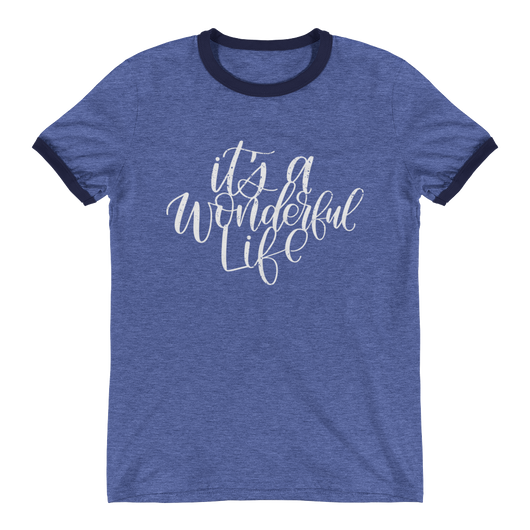 IT'S A WONDERFUL LIFE UNISEX RINGER TEE