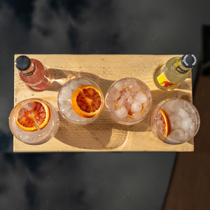 G n' T Serving Board - Stemless Glasses