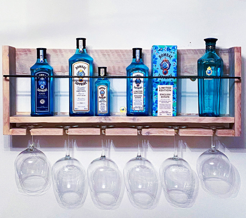 8 Bottle Gin Shelf