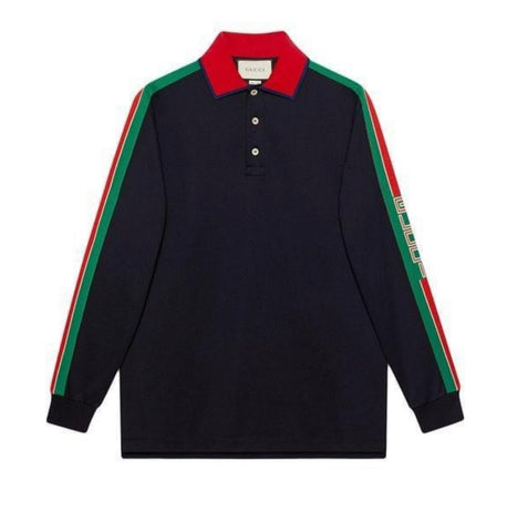 Gucci Long Sleeve Polo Top