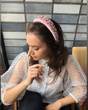 Load image into Gallery viewer, Padded Handmade Headband in Pink