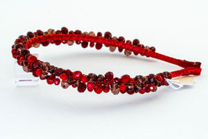 Red Oval Thin Headband