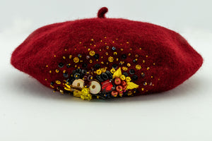 Red Beaded Beret