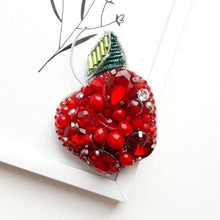 Load image into Gallery viewer, Red Apple Brooch