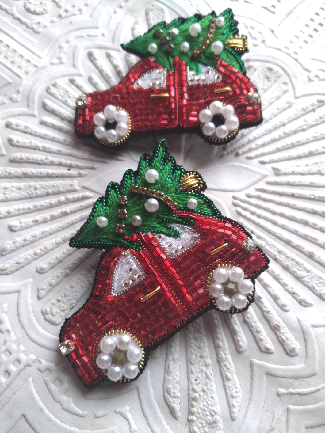 Christmas car Brooch