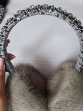 Load image into Gallery viewer, Mink Handbeaded Earmuffs