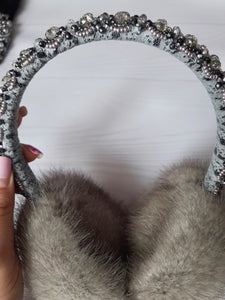 Mink Handbeaded Earmuffs