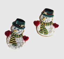 Load image into Gallery viewer, Snowman Brooch