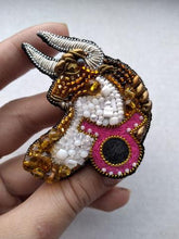Load image into Gallery viewer, Taurus Zodiac Brooch