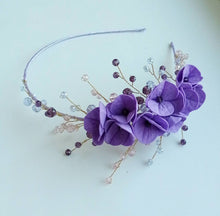 Load image into Gallery viewer, Headband with Handmade Flowers