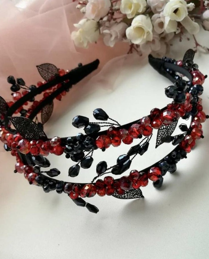 Double Headband in Red