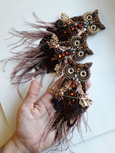 Load image into Gallery viewer, Owl Brooch in Grey or Brown