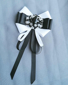 Fabric Bow Brooch