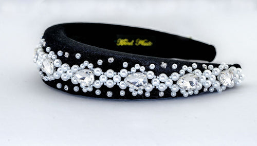 Padded Handmade Headband in Black and White