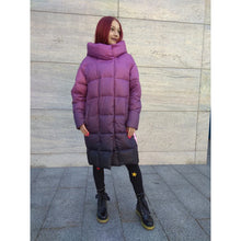 Load image into Gallery viewer, Purple Oversized Winter Jacket