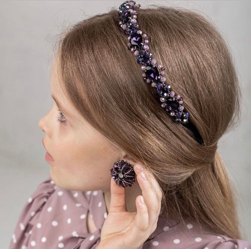 Purple Swarovski Headband