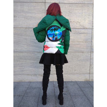 Load image into Gallery viewer, Green Short Winter Puffer